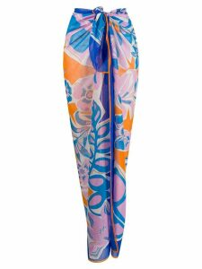 Emilio Pucci abstract print knotted waist skirt - Blue