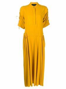 Cédric Charlier zipped drawstring dress - Yellow