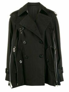 Sacai zip trim trench coat - Black