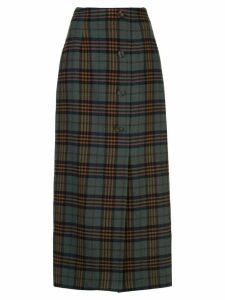 Rebecca De Ravenel plaid print skirt - Green