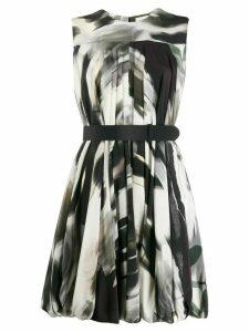 Alexander McQueen abstract print short dress - Black