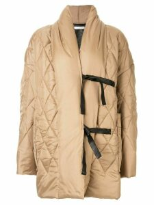 Litkovskaya Pappa oversized padded coat - Brown