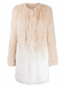 Yves Salomon oversized ombré-effect coat - PINK