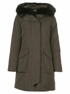 Woolrich hooded down coat - Green
