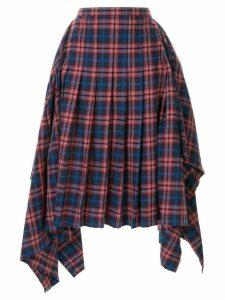 Juun.J asymmetric pleated skirt - Multicolour