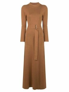 Nicholas belted knitted dress - Brown