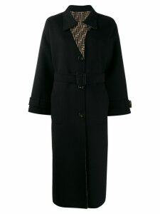 Fendi belted trench coat - Black