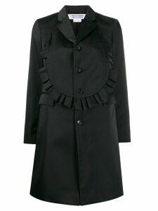 Comme Des Garçons Comme Des Garçons frilled single-breasted coat -