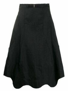 Comme Des Garçons scalloped hem skirt - Black