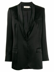 Tory Burch satin lapel blazer - Black