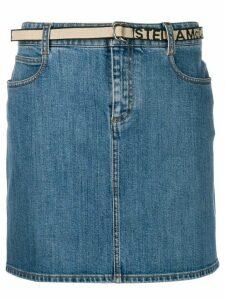 Stella McCartney belted denim skirt - Blue