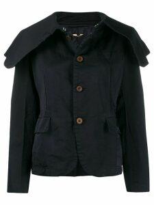 Comme Des Garçons Comme Des Garçons spread collar coat - Blue