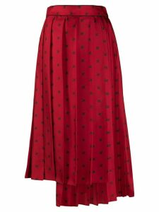 Fendi FF Karligraphy pleated skirt - Red