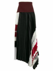 3.1 Phillip Lim asymmetric pleated skirt - Red