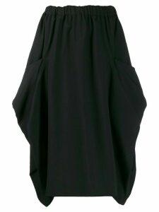 Comme Des Garçons elasticated waist midi skirt - Black