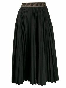 Fendi pleated Zucca skirt - Black
