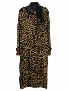 Rokh leopard print coat - Brown