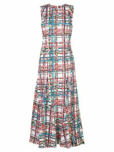 Jonathan Cohen plaid print dress - White