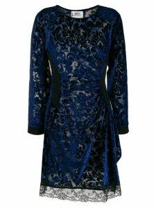 Koché DRAPED DRESS - Blue