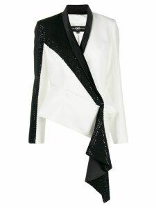 Avaro Figlio embellished wrap-style blazer - White