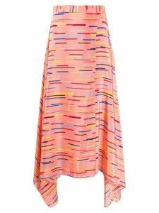 Chinti & Parker stripe print skirt - Pink
