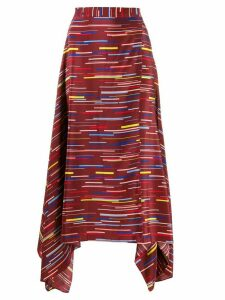 Chinti & Parker stripe print skirt - Red