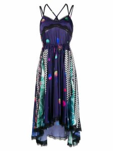 Koché multipanel printed dress - Purple