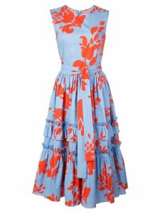 Carolina Herrera floral print dress - Blue