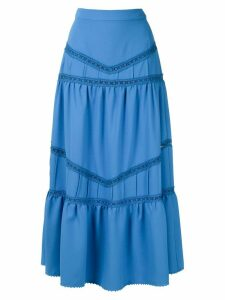 Martha Medeiros panelled midi skirt - Blue