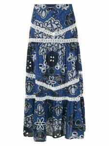 Martha Medeiros Lorain printed midi skirt - Blue