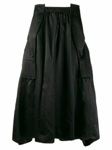 Comme Des Garçons structured midi-skirt - Black