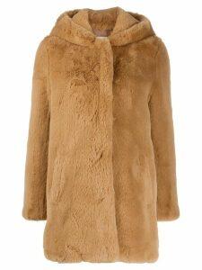 Sandro Paris Honey faux fur coat - NEUTRALS