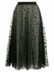 Giamba star print mesh skirt - Black
