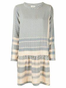 Cecilie Copenhagen long-sleeve patterned dress - Blue