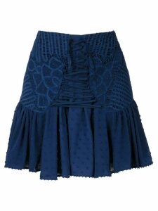 Martha Medeiros Thamires short skirt - Blue