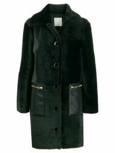 Sandro Paris Rafaeli faux fur coat - Green
