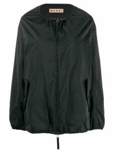 Marni collarless raincoat - Black