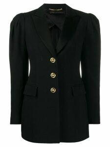 Versace puff-sleeve fitted blazer - Black