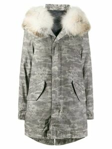 Mr & Mrs Italy camouflage print down parka - Grey