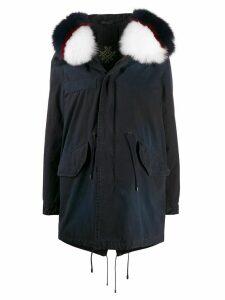 Mr & Mrs Italy hooded mid-length parka - Green