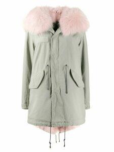 Mr & Mrs Italy hooded mid-length coat - Green