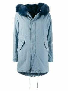 Mr & Mrs Italy New York-fit hooded parka - Blue