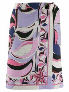 Emilio Pucci printed wrap skirt - Blue