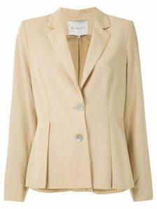 Alcaçuz Mafra pleated blazer - Neutrals