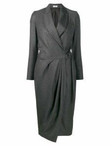 Brunello Cucinelli belted wrap dress - Grey