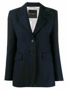 Ermanno Scervino single-breasted stitch blazer - Blue
