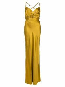 Michelle Mason Twist silk gown - Yellow