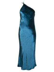 Michelle Mason back cowl midi dress - Blue
