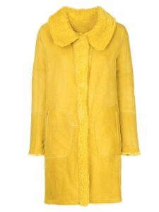 Sylvie Schimmel reversible single-breasted coat - Yellow