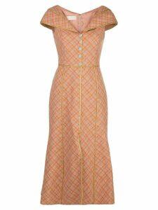 Peter Pilotto structured midi dress - PINK